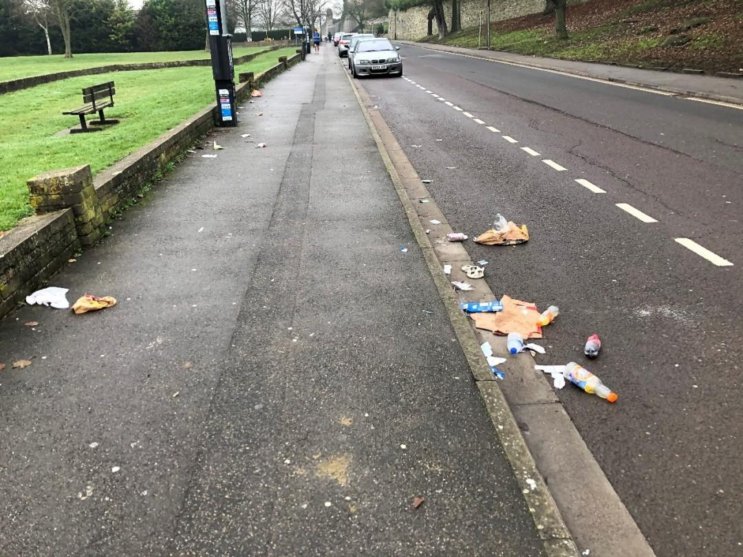takeaway litter